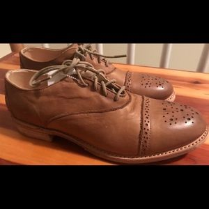Vintage Shoe Co Oxford Brogues. Leather. New. 6.5